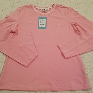 Lilly Pulitzer pink white longsleeve top L